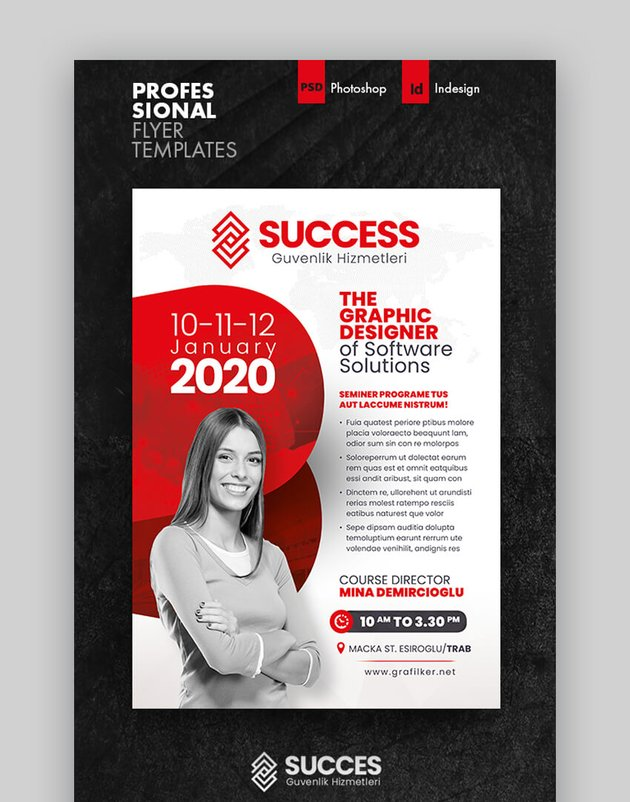 Seminar Flyer Templates  Informational Template