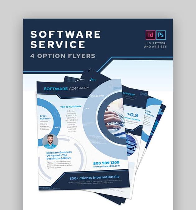 Software Service Flyers  Versatile Information Template