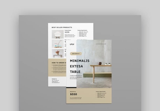 Furniture Product Flyer Template