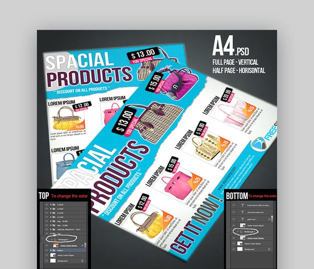 Cool Product Leaflet Design Template
