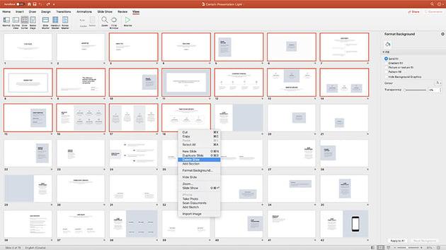 Contain Simple Presentation Template Choosing slides