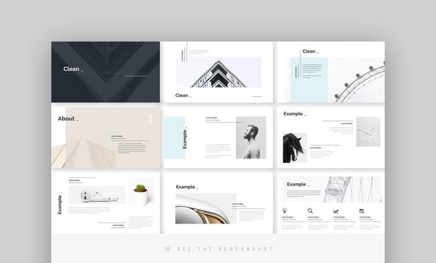 Clean Minimal Simple PowerPoint Design
