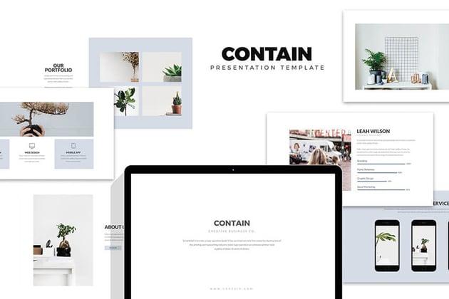 Contain Simple Presentation Template