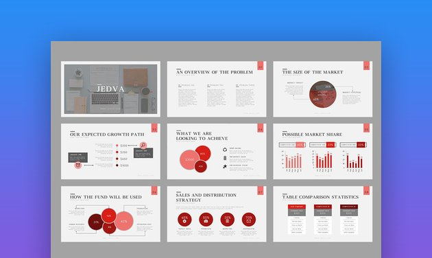 Jedva - Modern PowerPoint Pitch Deck Template