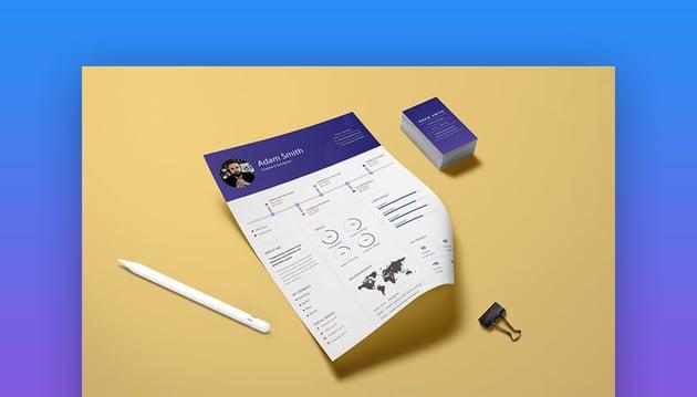 Infographic CV Template For Illustrator