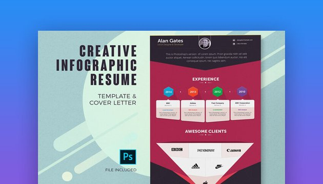 Infographic Resume And Cover Letter Template