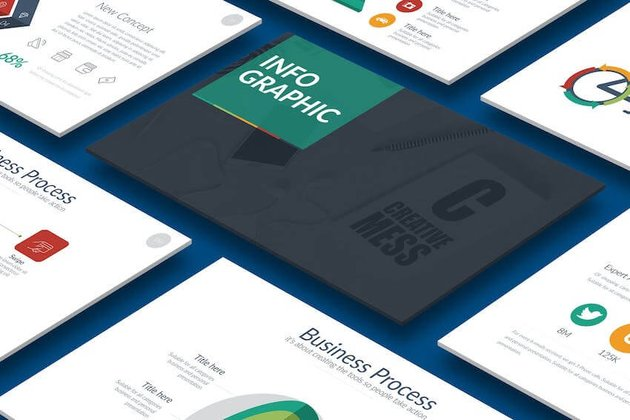 Infographic PowerPoint template - with great PPT charts and infographics