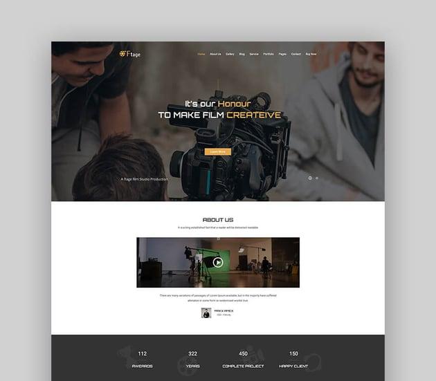 Ftage - Movie and Actor WordPress Theme