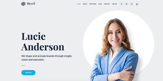 Myself - Free Actor WordPress Theme