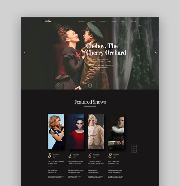 Theatre WP - Actor WordPress Theme