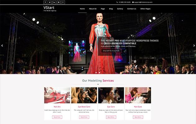 VStart - Free WordPress Theme For Actors