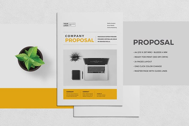 Proposal With Bold Typography