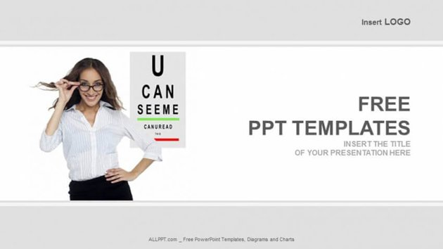 Vision Free Healthcare PowerPoint Template for Opthalmologists