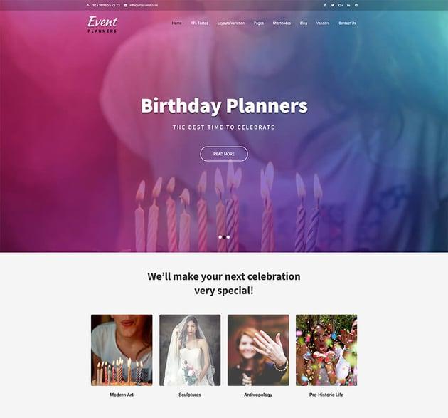 Event Planners - WordPress Speaker Theme
