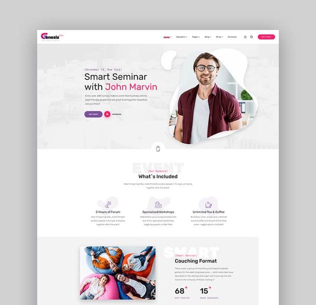 GenesisExpo - Business Events And Speaker WordPress Theme