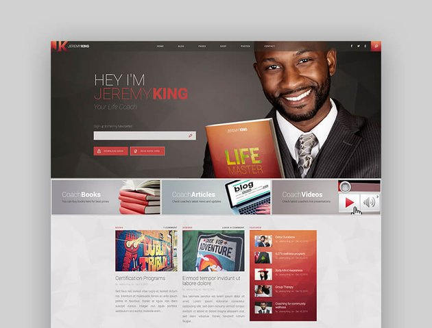 Life Coach - Public Speaker WordPress Theme