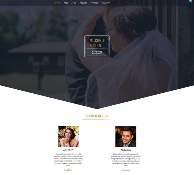 BB Wedding Bliss - WordPress Free Theme