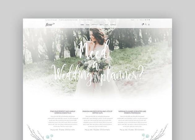Fleur - Wedding Planning Theme For WordPress