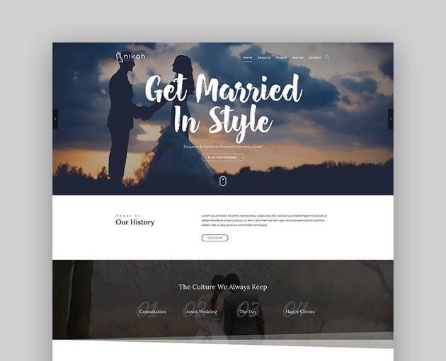 Nikah  Wedding Organizer  Planner WordPress Theme