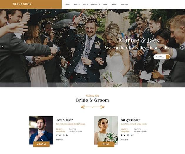 Vivah Royal Wedding - Free WordPress Theme
