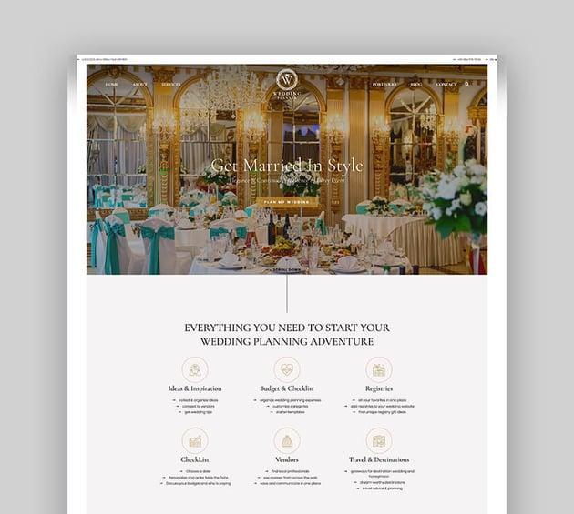 Wedding Planner - Responsive WordPress Theme For Wedding Planners
