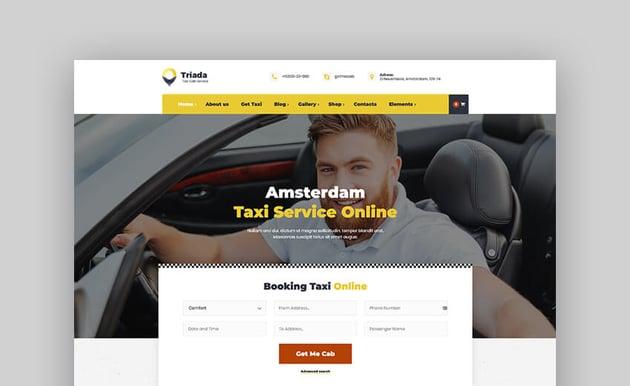 Triada - Taxi Cab Service Company WordPressTheme