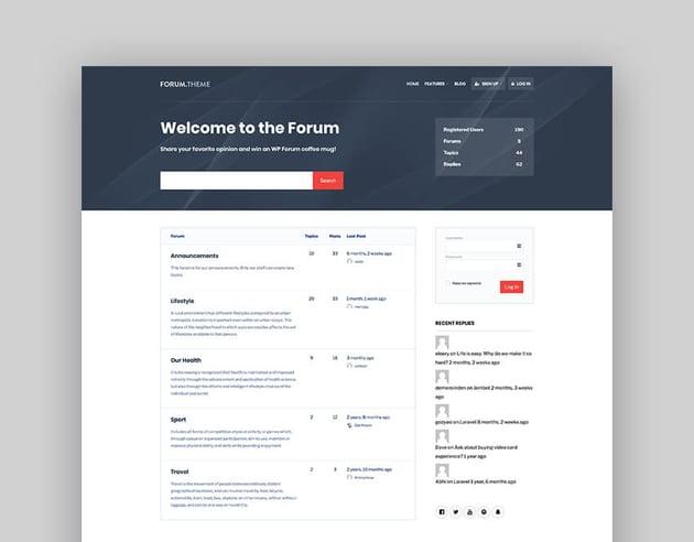 Forum - A Responsive Forum WordPress Template