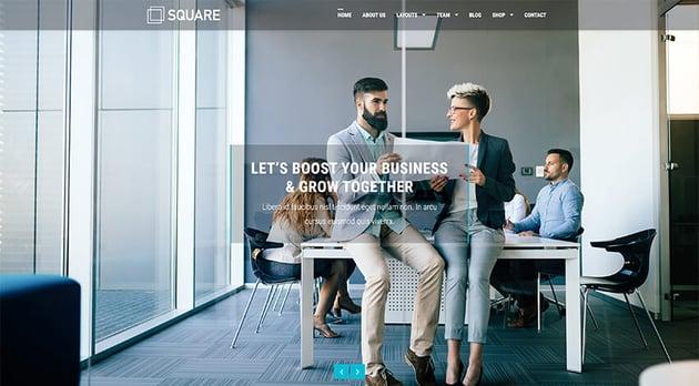 Square - WordPress Free Forum Theme