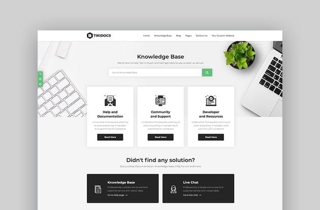 Tikidocs - Knowledgebase  Support Forum WordPress Theme
