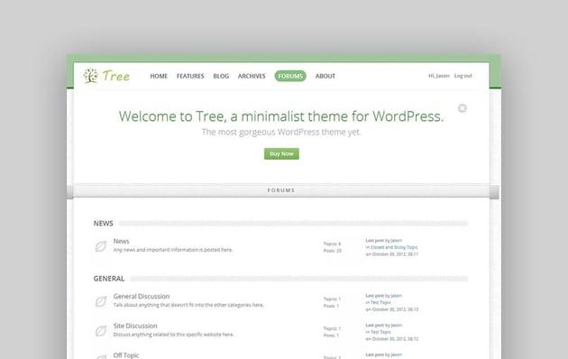 Tree - Minimal Blog WordPress Theme For Forum Websites