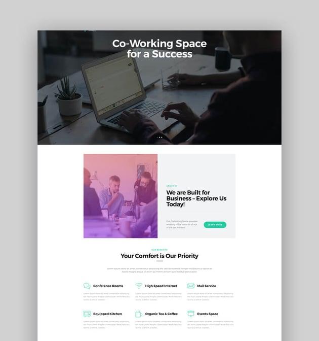 Coworking - Open Office  Creative Space WordPress Theme