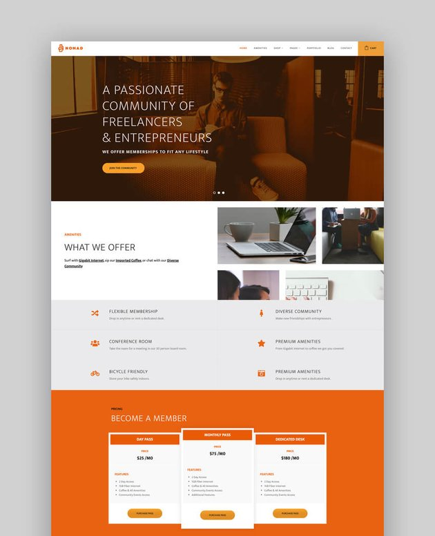 Nomad - Business  Coworking Space Theme