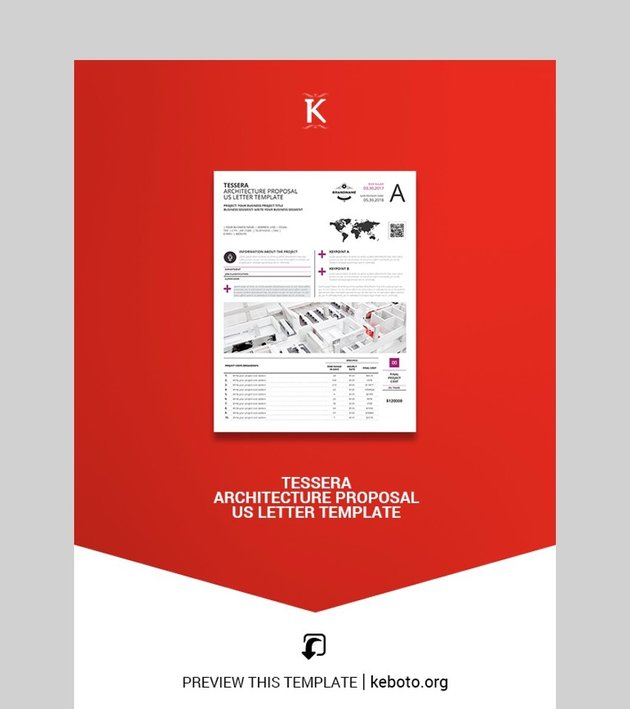 Tessera Architecture Proposal US Letter Template