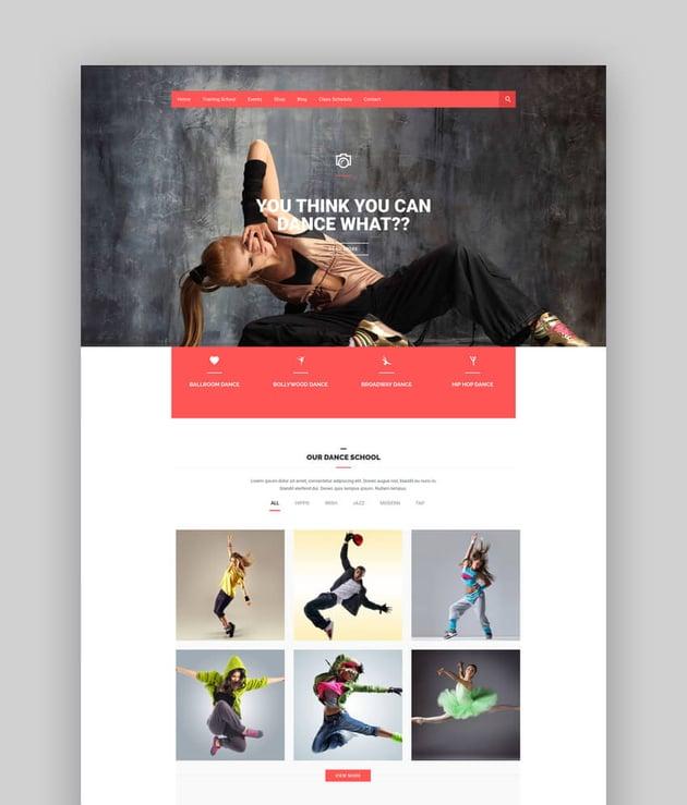 Dance Academy - Amazing WordPress Theme For Dance Studios