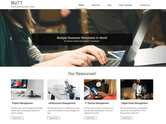 BizTT - WordPress theme