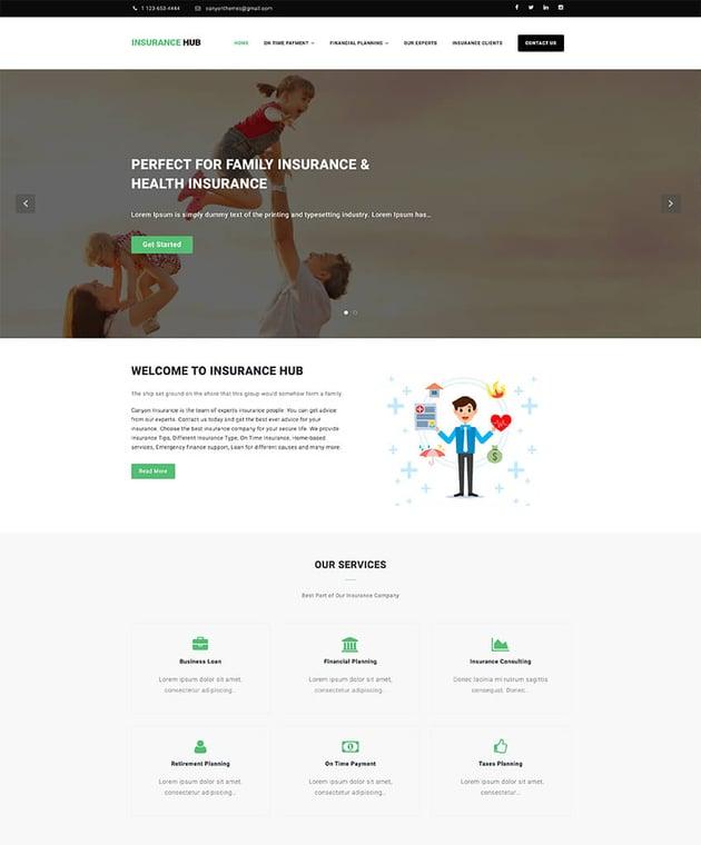 Insurance Hub - WordPress theme