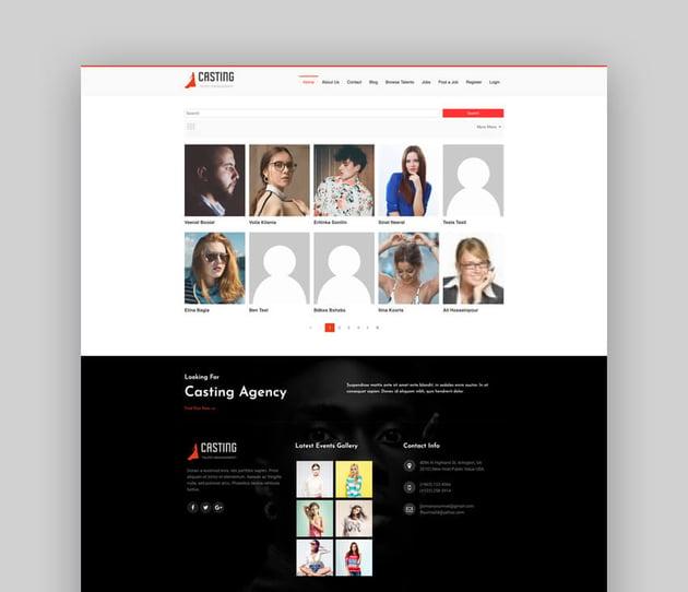 Casting - Responsive Model Agency WordPress Theme