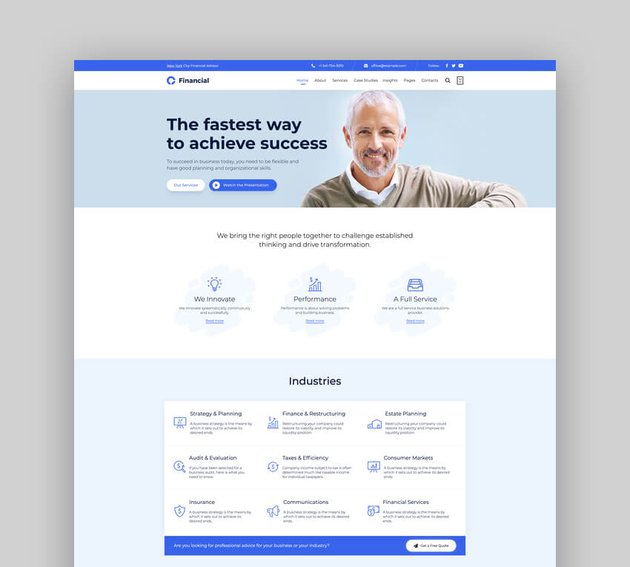 Consultancy - Consulting Finance Accounting WordPress Theme