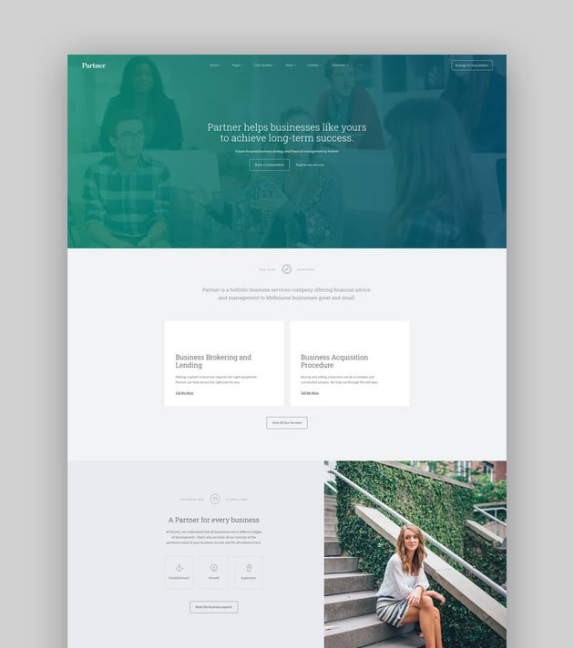 Partner - Accounting and Bookkeeping Responsive WordPress Theme