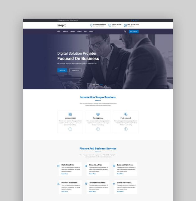 Xzopro - Bookkeeping Finance And Business WordPress Theme