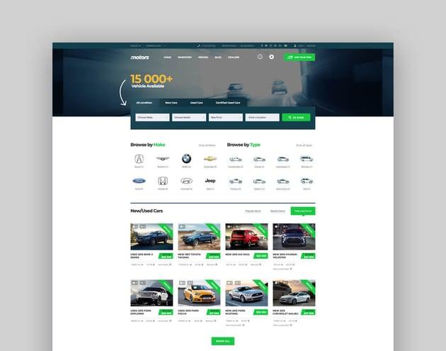 Motors - Car Dealer Rental  Classifieds WordPress Theme