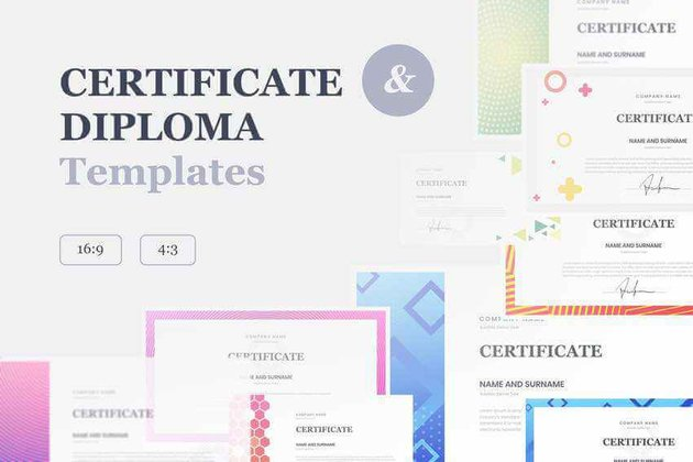 Certificate  Diploma PowerPoint Template