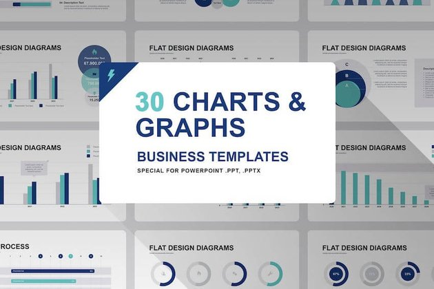 Graphs and Charts For PowerPoint