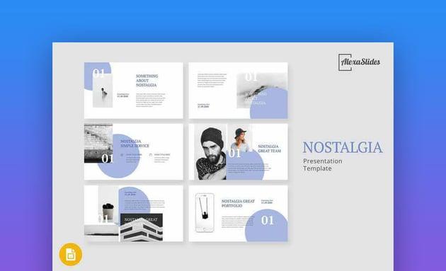 Nostalgia - Creative Google Slides Template