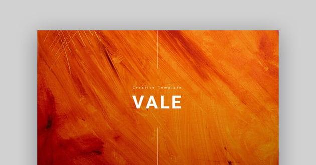 Vale - Creative Google Slides Theme