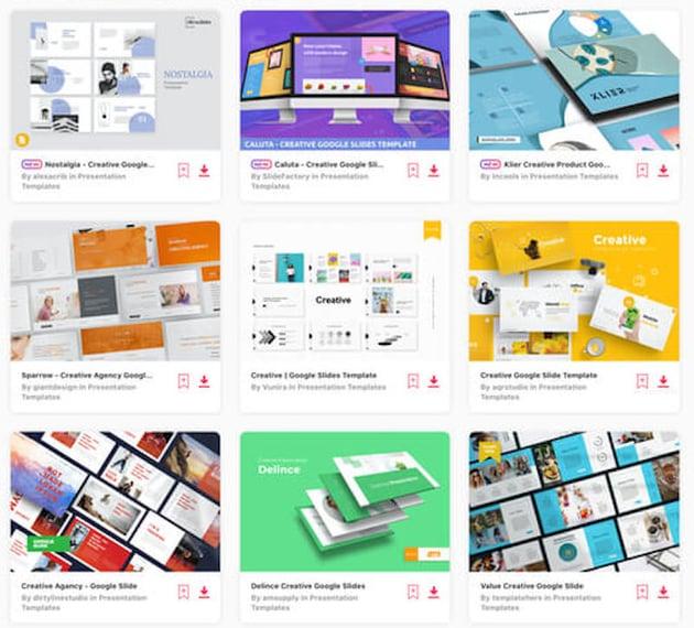 Google Slides templates on Envato Elements