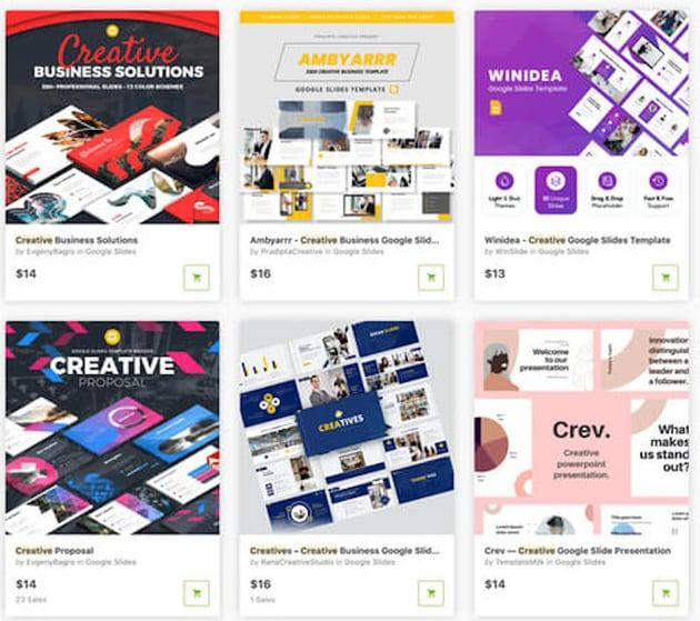 Googles Slides templates on GraphicRiver