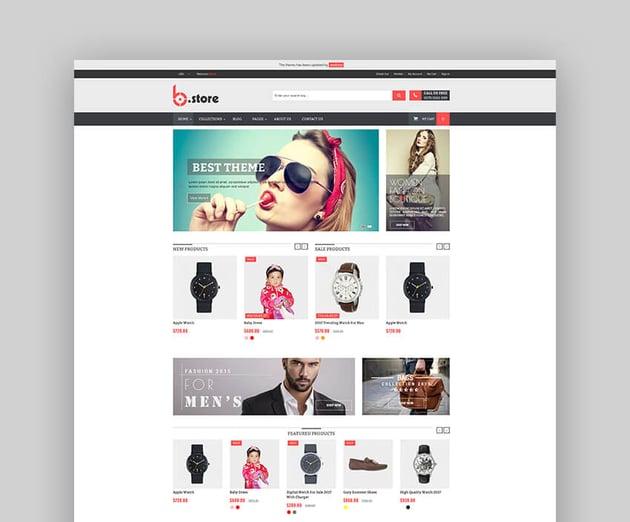 Bstore - Tema multipropósito para dropshipping con Shopify