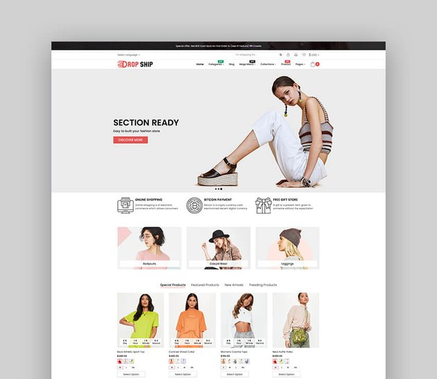 Dropshipping - Plantilla multipropósito y responsive de Shopify para dropshipping de moda