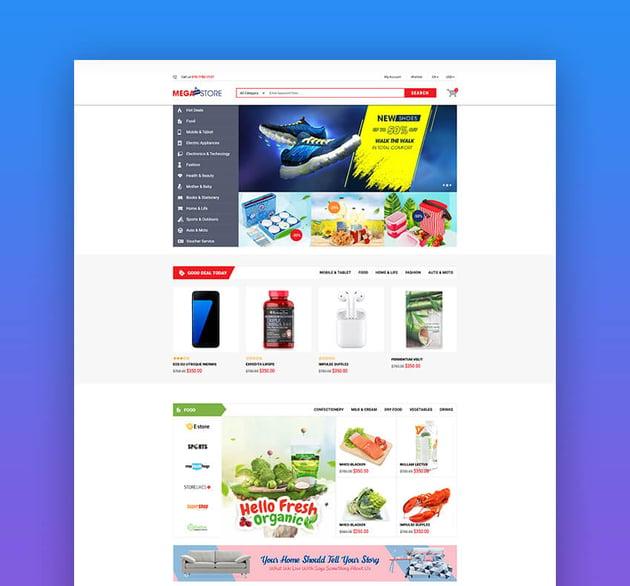 MegaStore | e-commerce de Shopify para crear un gran mercado online